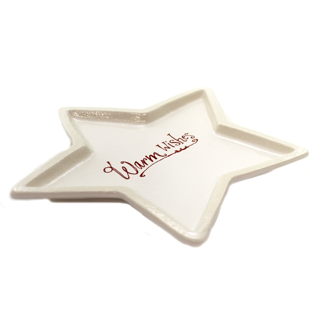 Tabletop WARMS WISHES STAR DISH Ceramic Poetic Threads 2020180628