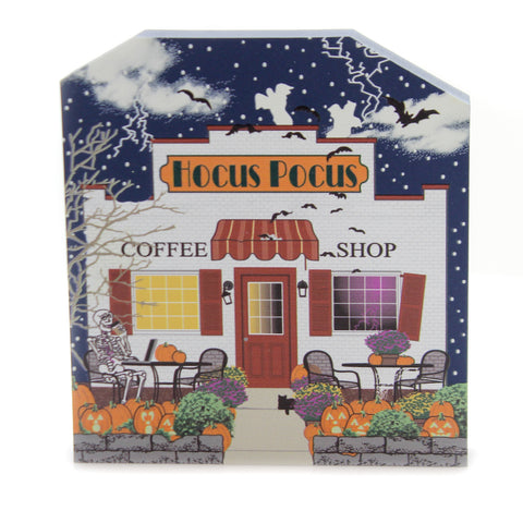 Cats Meow Village HOCUS POCUS COFFEE SHOP Wood Halloween 18631 38872
