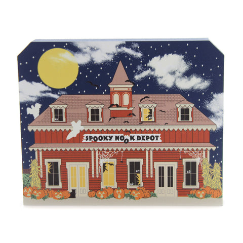 Cats Meow Village SPOOKY NOOK DEPOT Wood Halloween 18632 38873