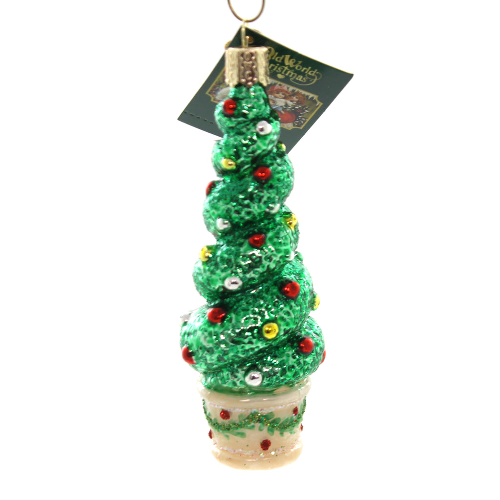 Old World Christmas HOLIDAY TOPIARY Glass Ornamental Shape 48040