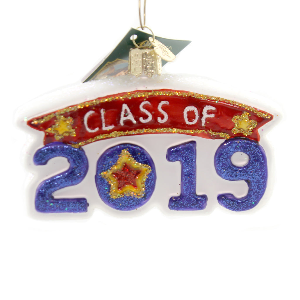 Old World Christmas CLASS OF 2019 Glass Graduation 36247