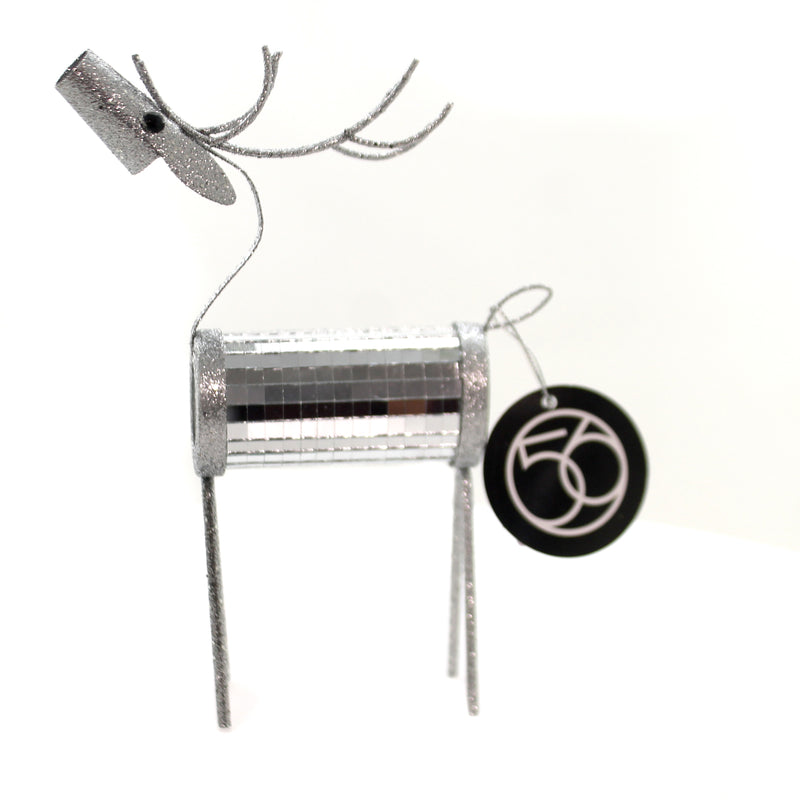 Christmas MIRRORED REINDEER Metal Department 56 6002555