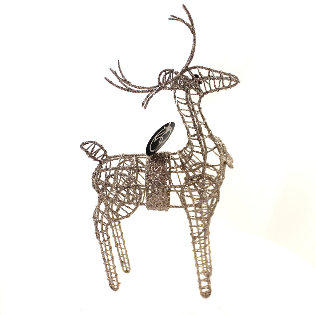 Christmas GLITTERED REINDEER Metal Department 56 6002509