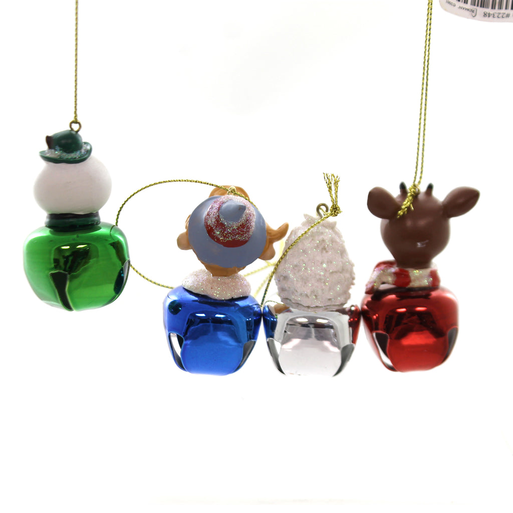 Holiday Ornaments RUDOLPH JINGLE BUDDIES Metal Red Nosed Reindeer 22348