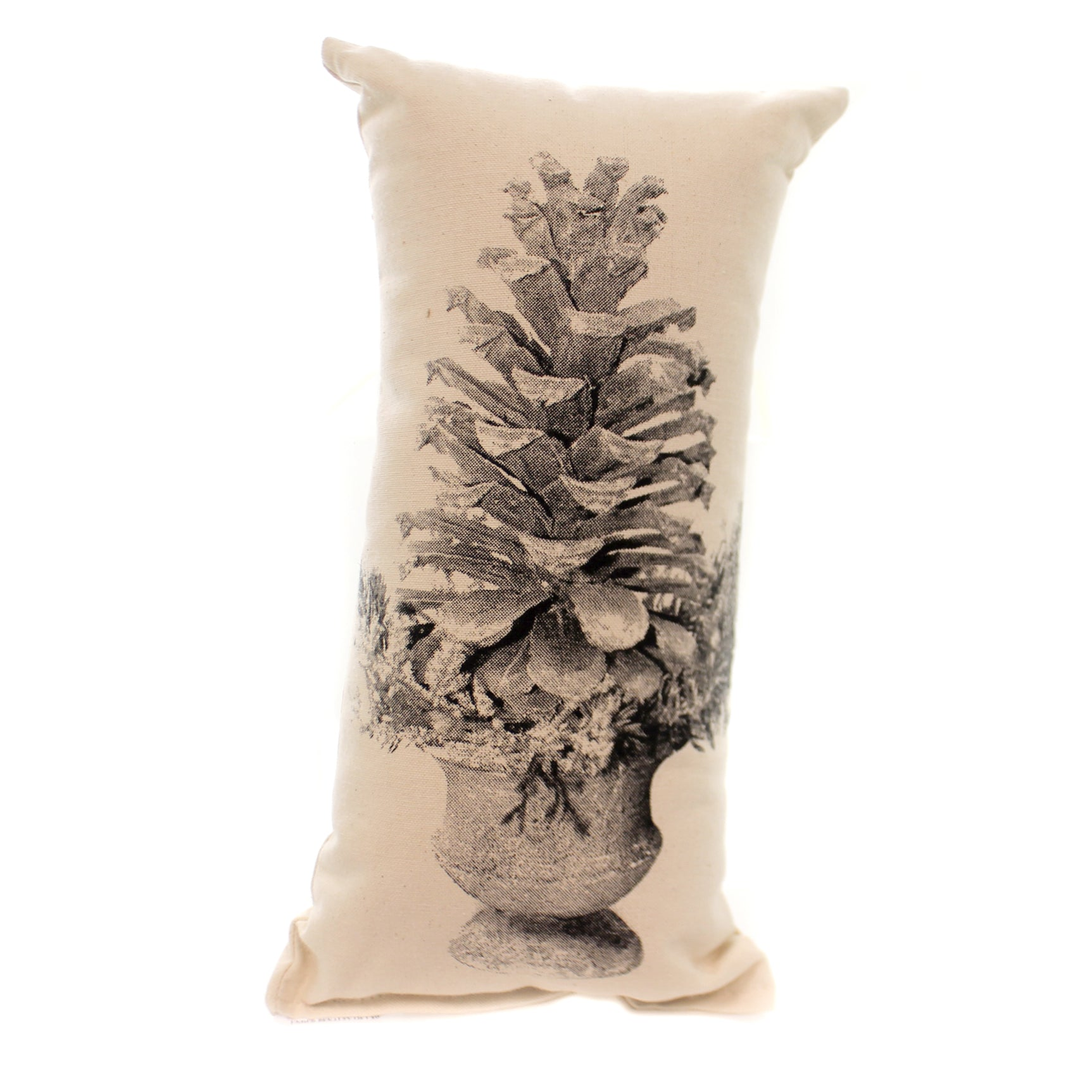 Christmas Pine Cone Pillow Small Fabric Made In Usa Sppinecone
