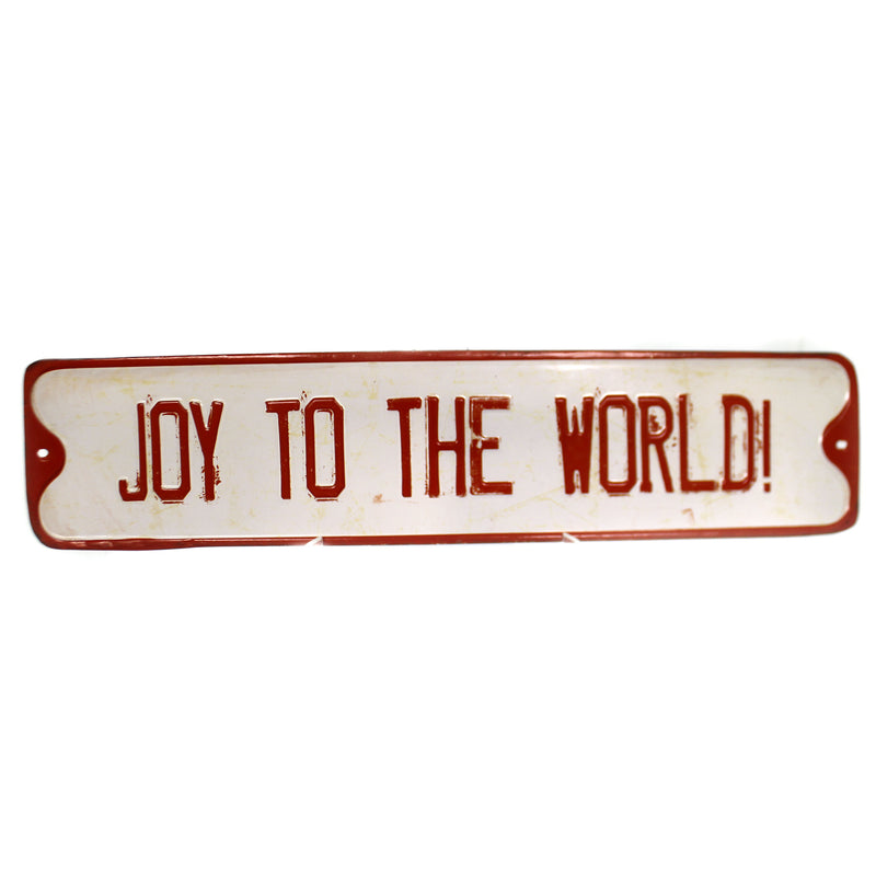 Christmas EMBOSSED HOLIDAY WALL ART Tin Distressed Xm0933a Joy