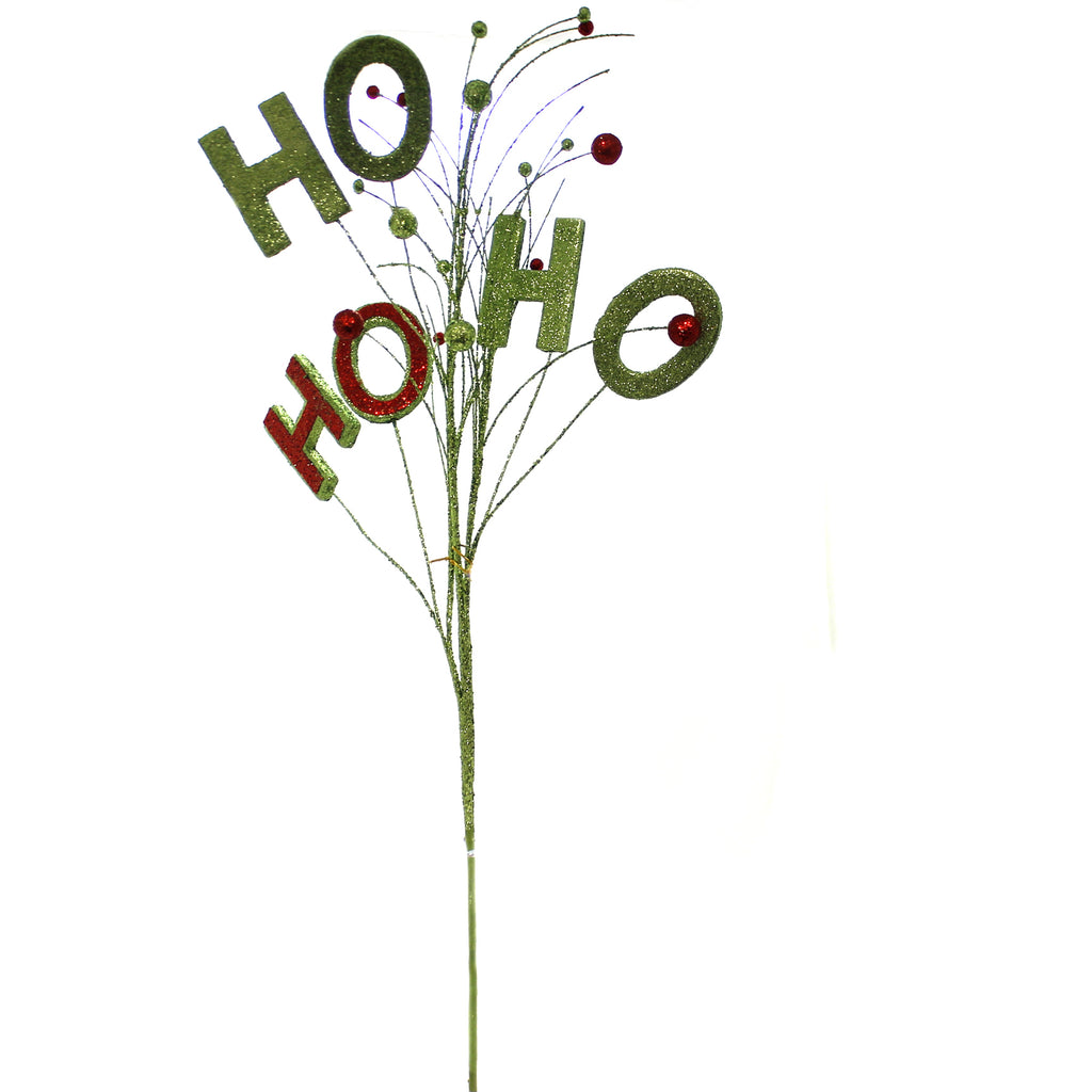 Christmas HOHOHO SPRAY Wire Glitter Floral Accent 0280506