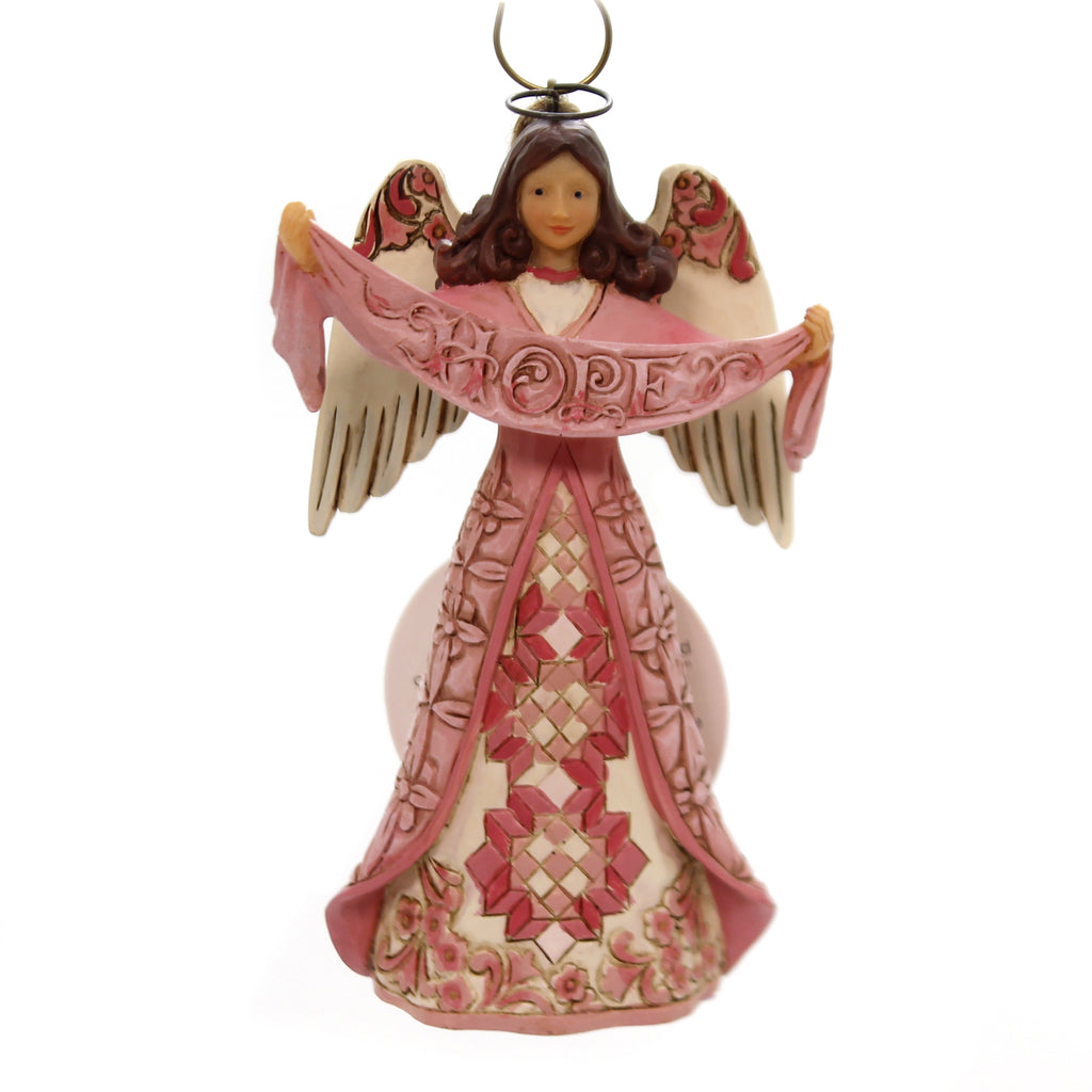 Jim Shore BREAST CANCER HOPE ANGEL Polyresin Awareness 6002869