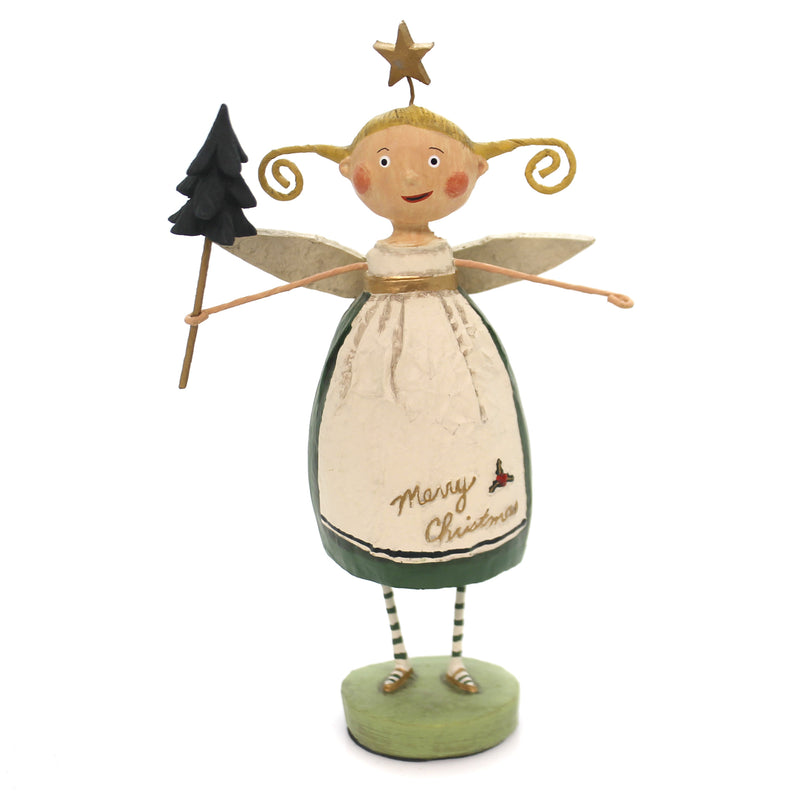 Lori Mitchell EVERGREEN ANGEL Polyresin Star Tree 11092