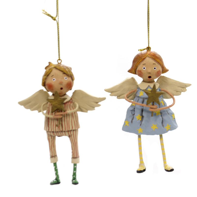 Lori Mitchell BABES IN TOYLAND ORNAMENTS Polyresin Set Two 11114