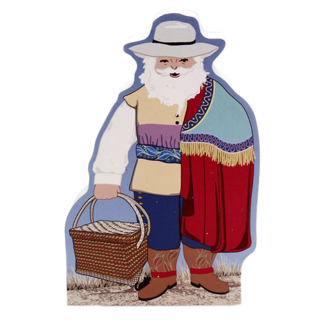 Cats Meow Village COLONIAL MEXICO SANTA STANDING Wood 2018 Chunky Santa 18601 39137