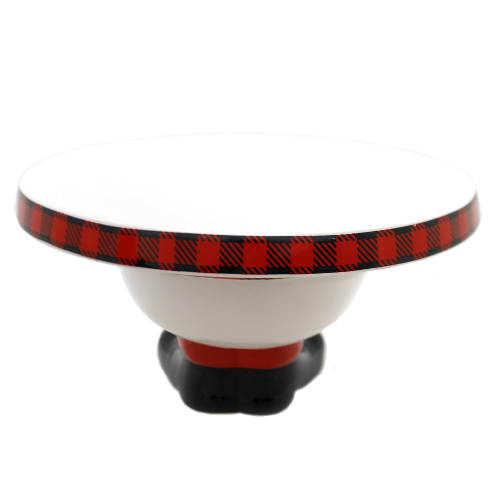 Tabletop TARTAN CAKE PLATE Ceramic Boots Base 1871137