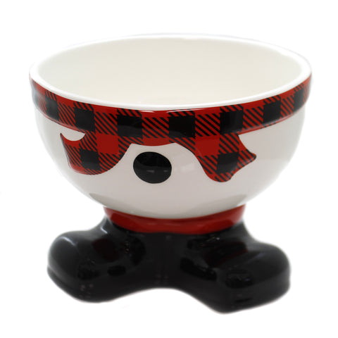 Tabletop TARTAN SNOWMAN FOOTED BOWL Ceramic Hand Wash 1871110 39205