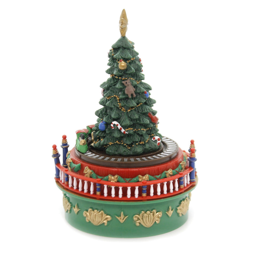 Christmas ANIMATED MUSICAL TREE Plastic Deck The Hall 19737