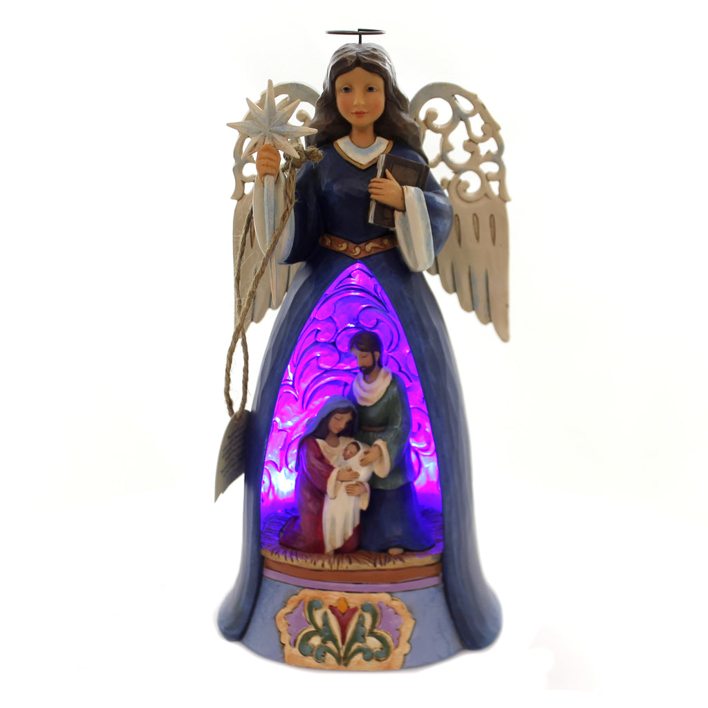 Jim Shore A SAVIOR FOR ALL Polyresin Lighted Nativity Angel 4060271
