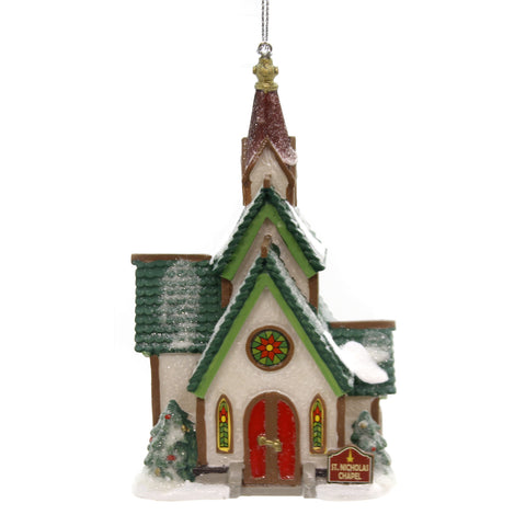 Holiday Ornaments ST. NICHOLAS CHAPEL North Pole Departmant 56 6002252 39235
