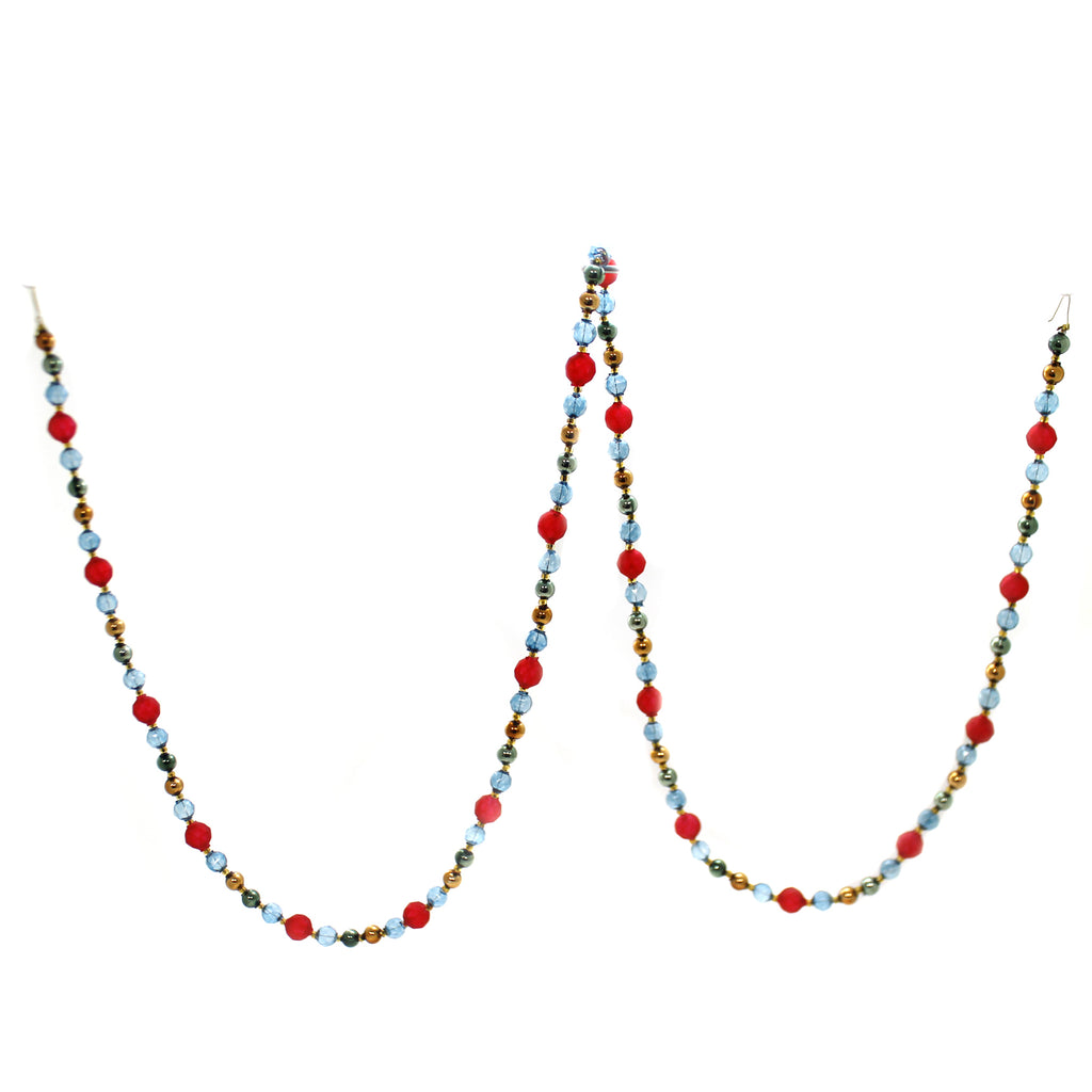 Christina's World FACETED SEE THRU BEADED GARLAND Glass Czech Republic Gar107