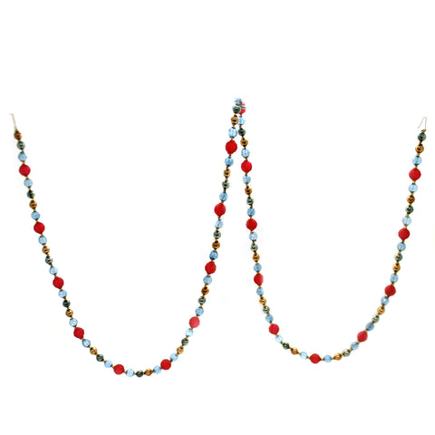 Christina's World FACETED SEE THRU BEADED GARLAND Glass Czech Republic Gar107 39245