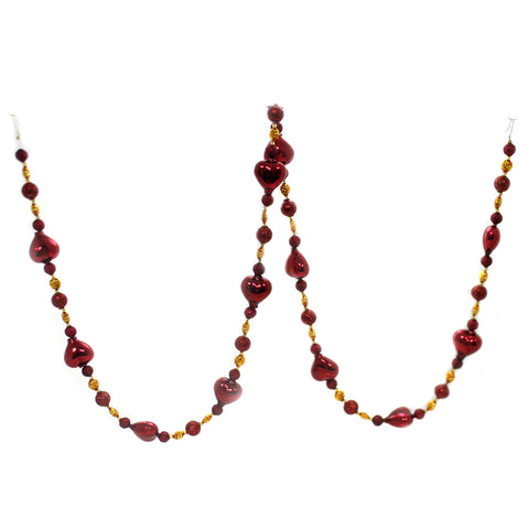 Christina's World HEARTS & FLOWERS BEADED GARLAND Beaded Czech Republic Glittered Gar111 39249