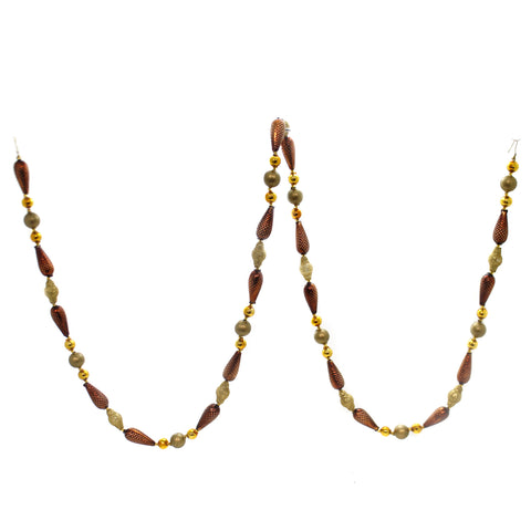 Christina's World COPPER/BRONZE PINECONE GARLAND Beaded Czech Republic Forest Gar114 39252