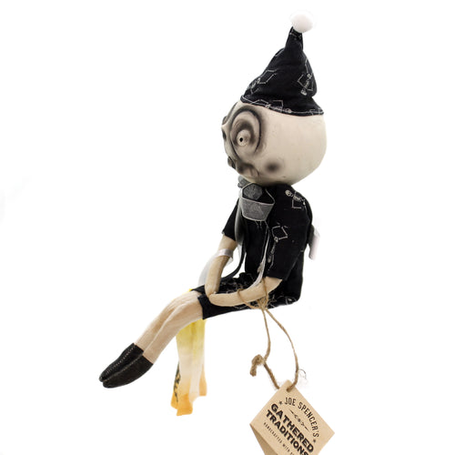 Joe Spencer JARVIS SKELETON GUY Fabric Halloween Primitive Trick Treat Fgs73766
