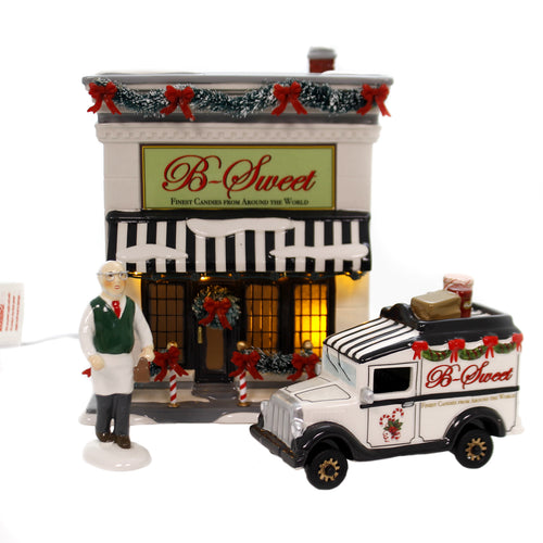 Department 56 House B SWEET SHOP Ceramic Finest Candies Delivery Truck 6002956
