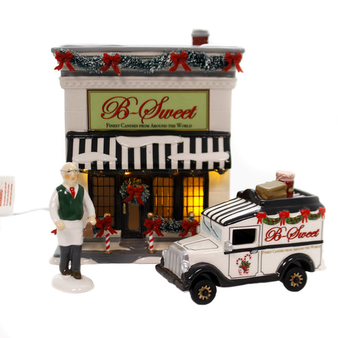 Department 56 House B SWEET SHOP Ceramic Finest Candies Delivery Truck 6002956 39272