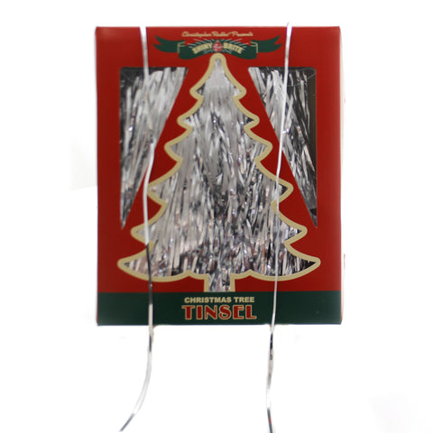 Shiny Brite SILVER TINSEL Plastic Christmas Tree Decoration 4027590 39302