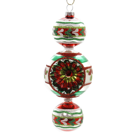 Shiny Brite HS THREE BALL DROP W/REFLECTOR Glass Ornament Christmas 4027586 39306