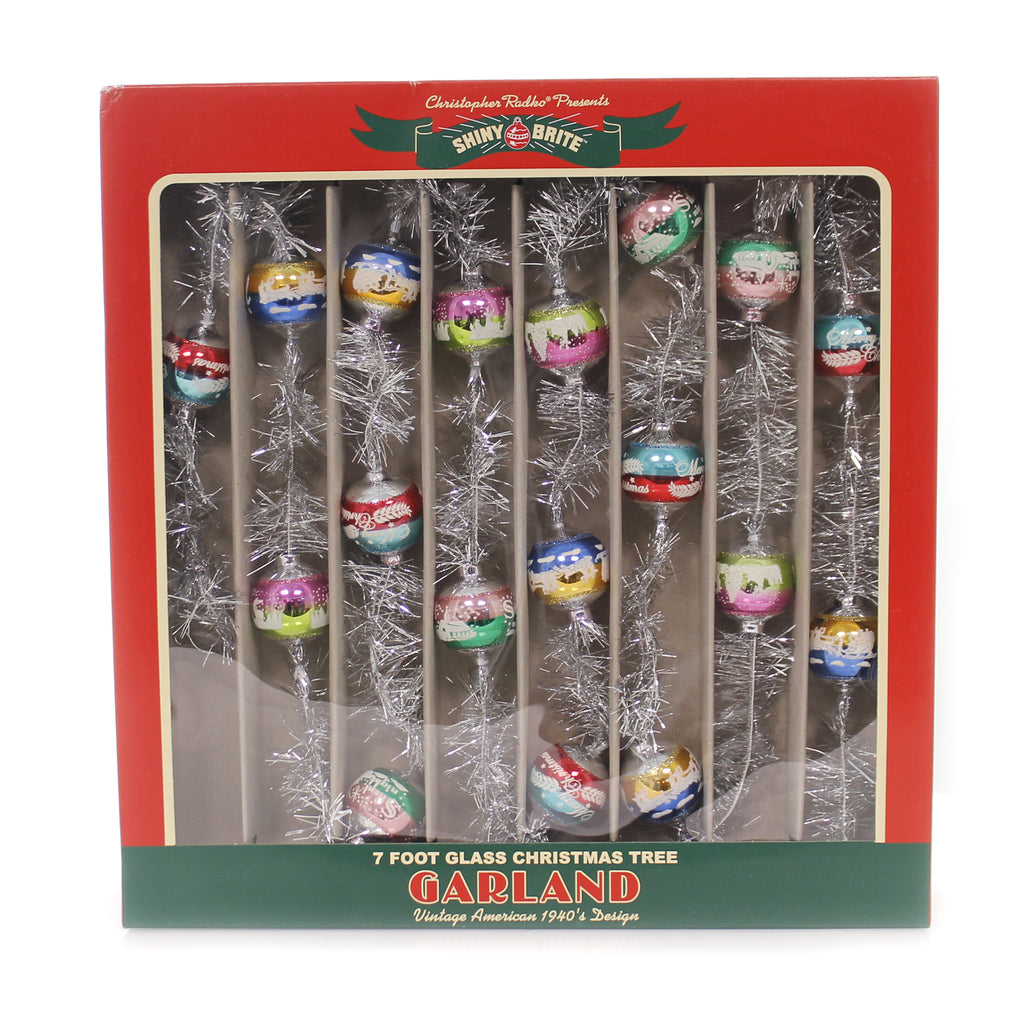 Shiny Brite CC TINSEL GARLAND Glass Christmas Confetti 4027615