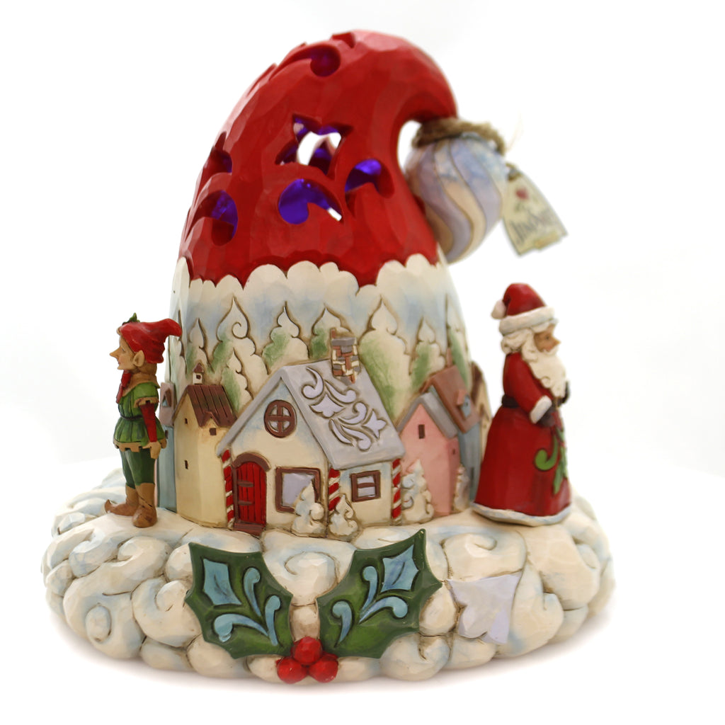 Jim Shore HATS OFF TO CHRISTMAS MAGIC Polyresin Lighted Santa Hat 4060107