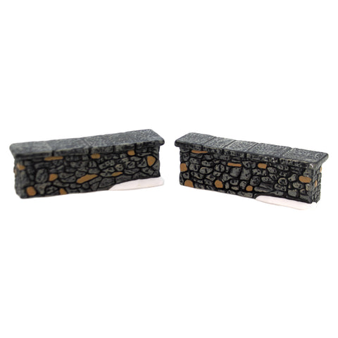 Department 56 Accessory WOODLAND STONE WALL Porcelain General Village 4025456 39386
