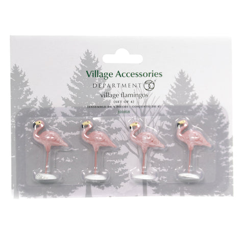Department 56 Accessory VILLAGE FLAMINGOS Polyresin Holiday 810818 39387