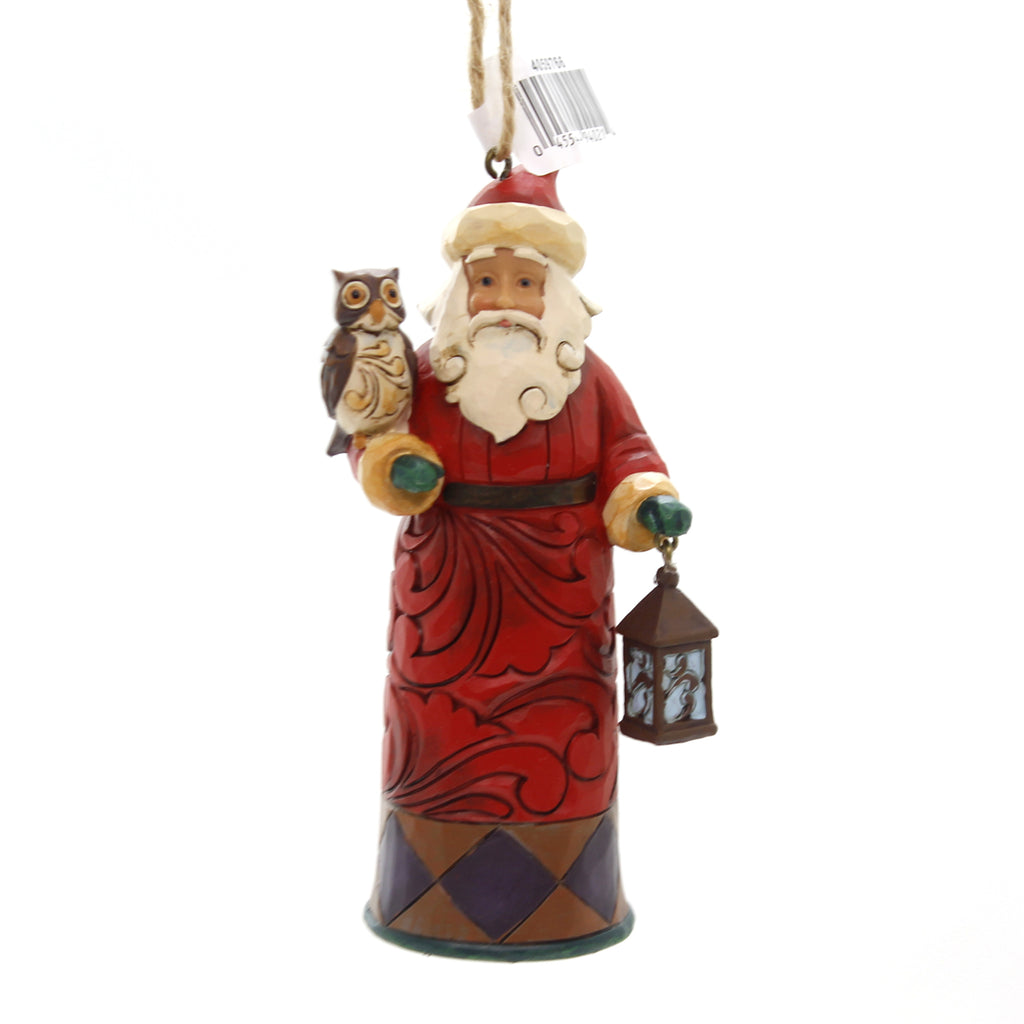 Jim Shore SANTA WITH LANTERN AND OWL Polyresin Christmas Ornament 4059766