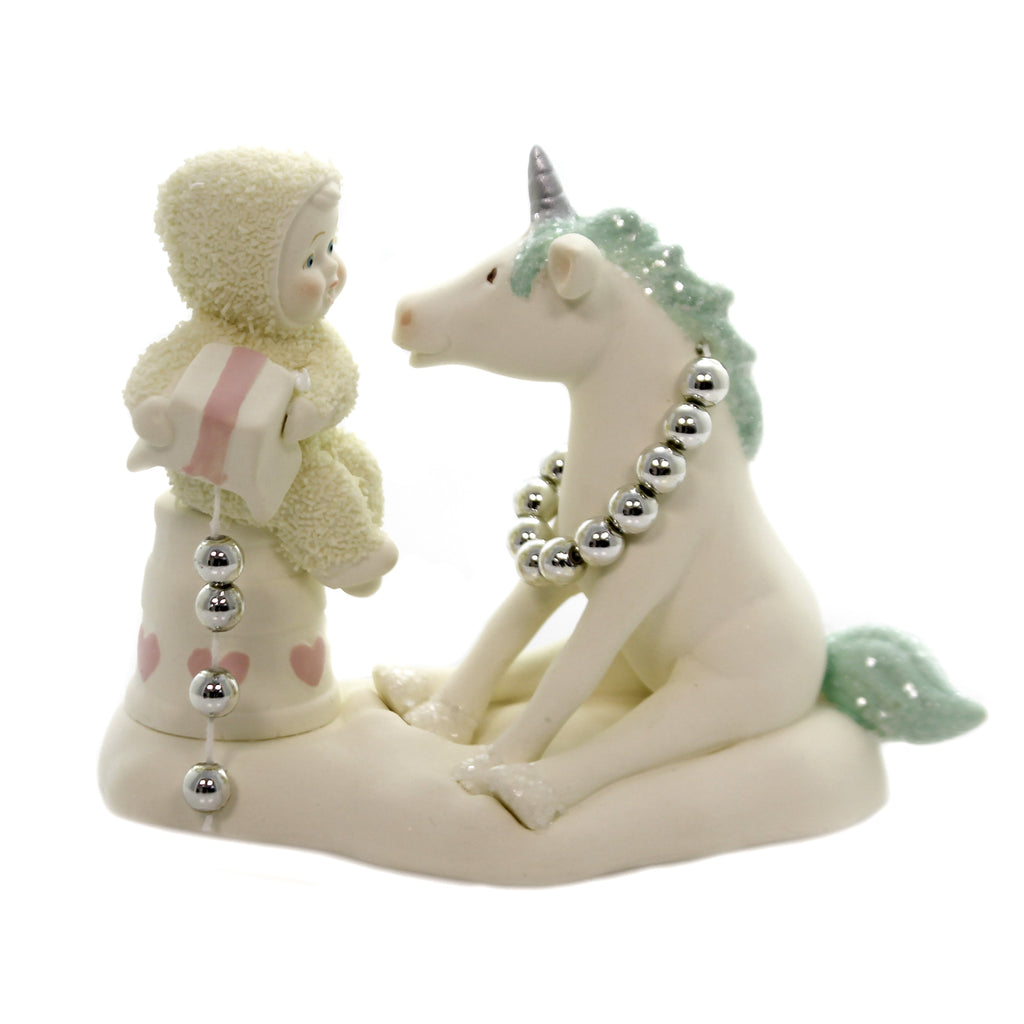 Dept 56 Snowbabies YOU'RE ONE OF A KIND Porcelain Gift Unicorn 6002854