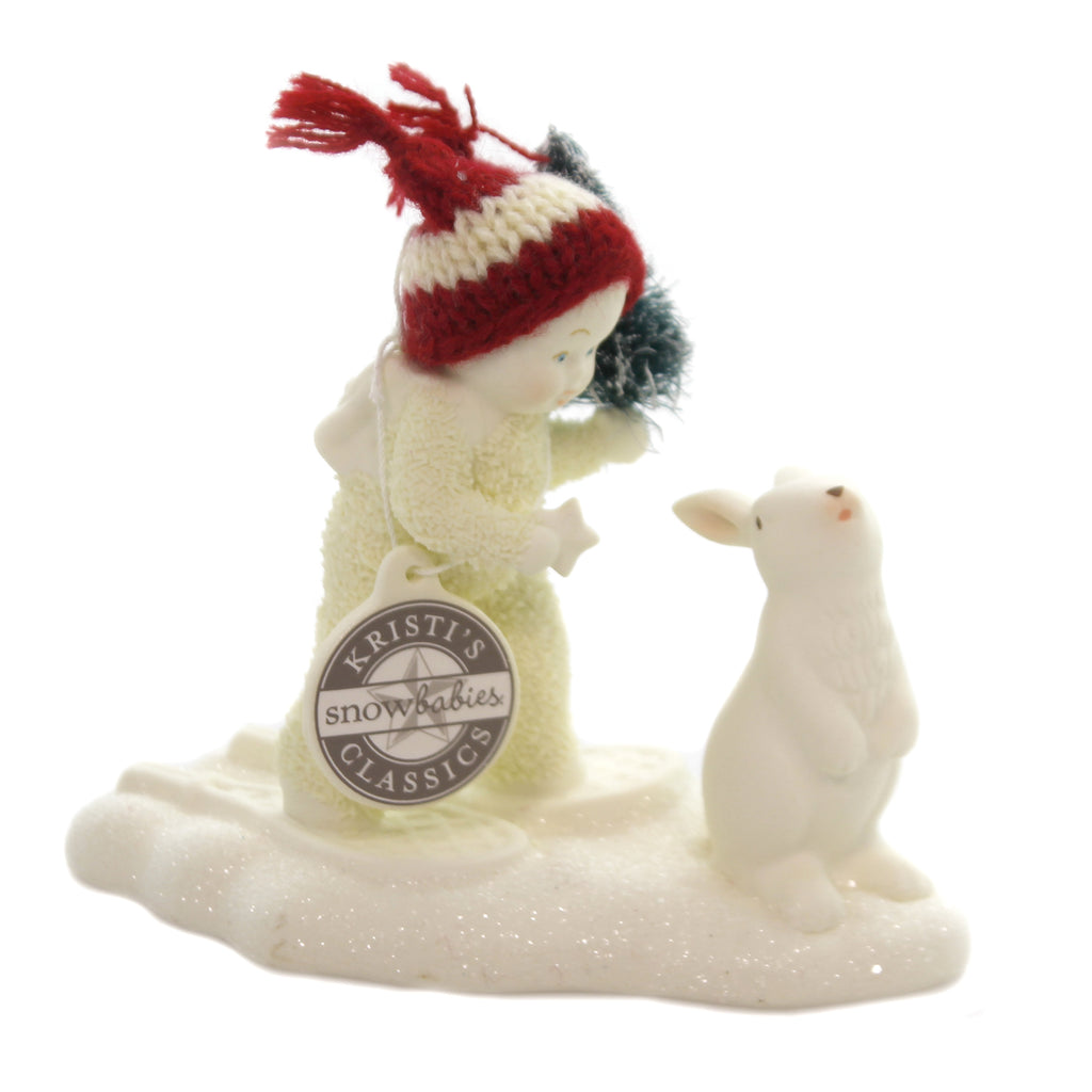 Dept 56 Snowbabies SPECIAL DELIVERY Porcelain Bunny Tree 6002848