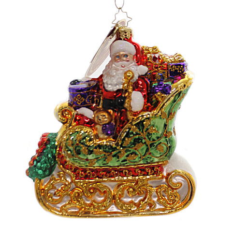 Christopher Radko SAINT NICK SLEIGH RIDE Glass Signing Event Piece 1019694 39440