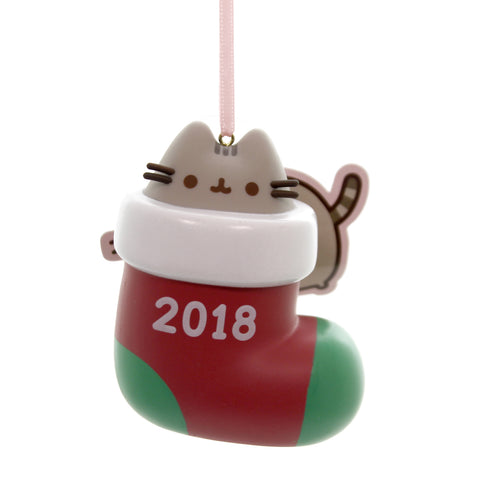 Holiday Ornaments PUSHEEN STOCKING SURPRISE 2018 Plastic Department 56 6000468 39494