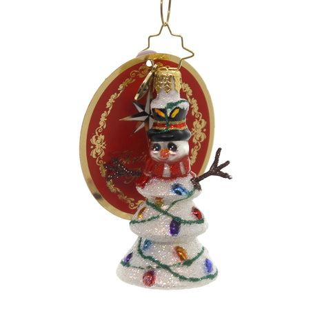Christopher Radko NORTHERN LIGHTS LITTLE GEM Glass Snowman 1019190 39512
