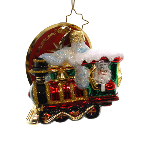 Christopher Radko ALL ABOARD LITTLE GEM Glass Train 1019174 39515