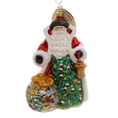 Christopher Radko A GIFT OF NATURE Glass Santa Animals 1019437 39518