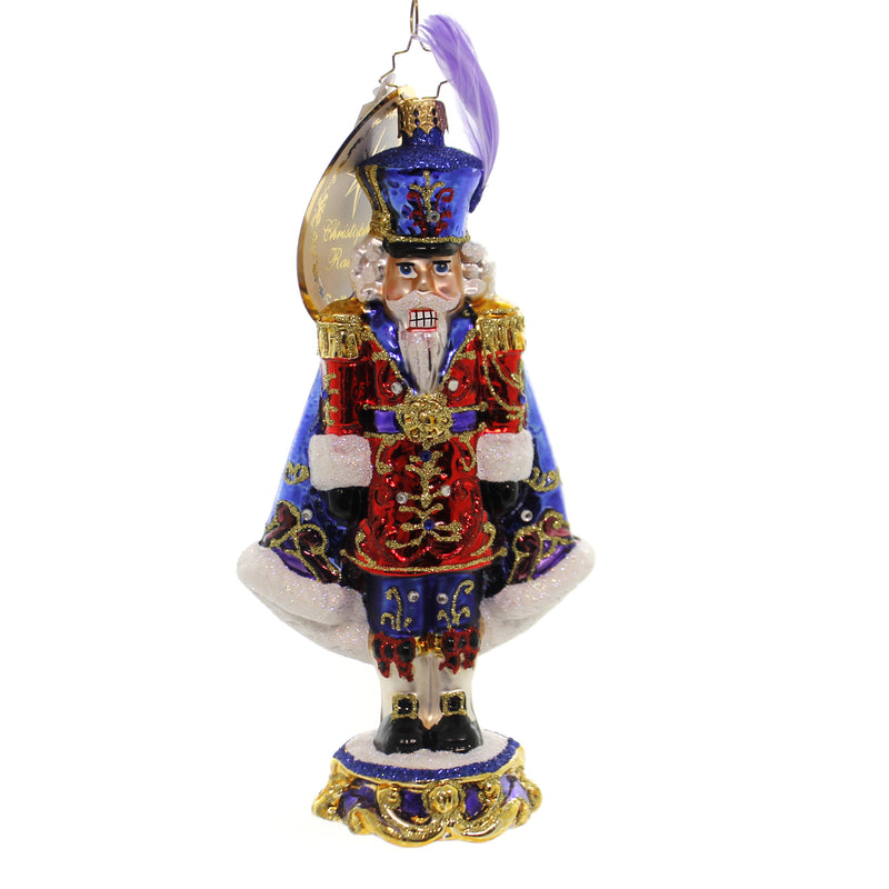 Christopher Radko PURPLE MAJESTY Glass Nutcracker Limited 1019296
