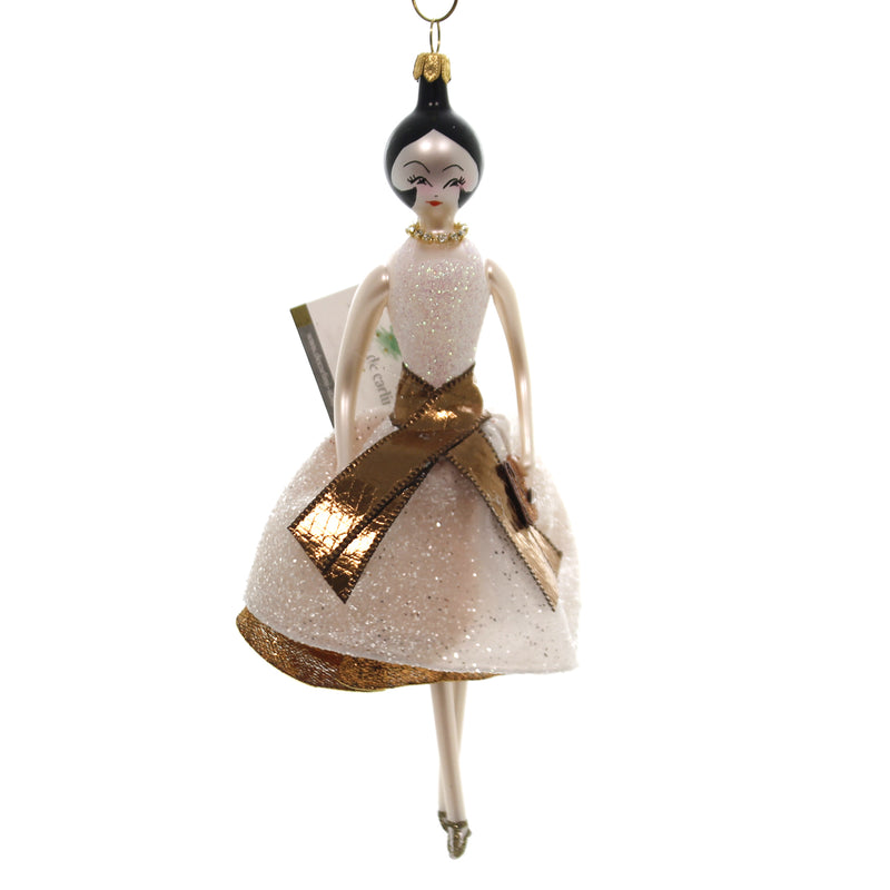De Carlini LADY  WHITE BRONZE DRESS Glass Italian Do7552