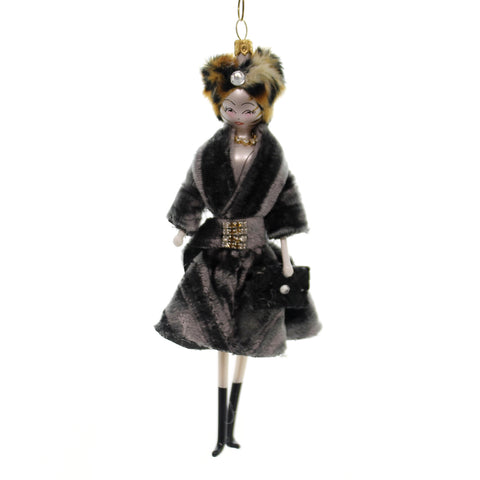 De Carlini LADY GREY VELVET COAT Glass Italian Do7515 39532