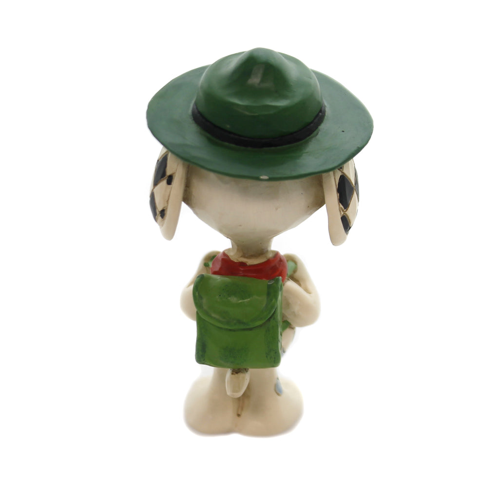 Jim Shore SNOOPY BOY SCOUT Polyresin Peanuts 6001296