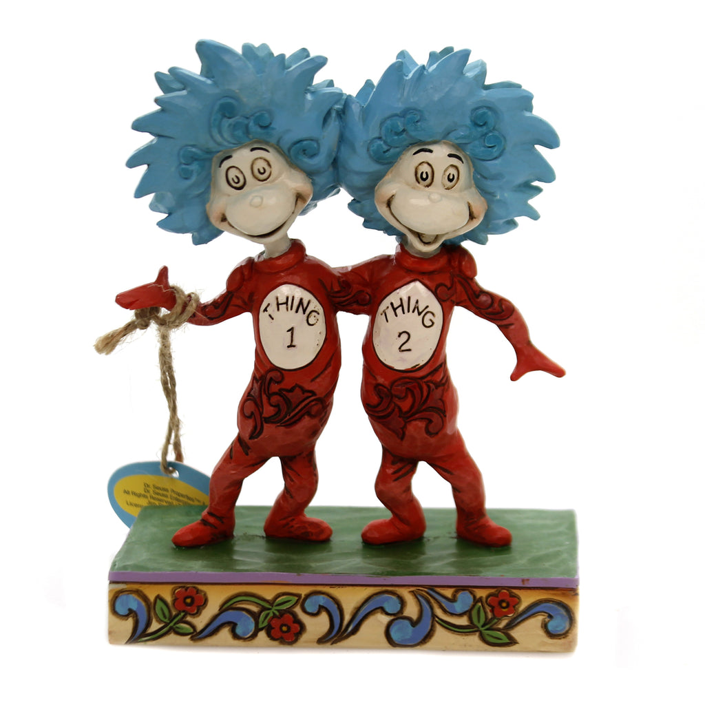 Jim Shore THING 1 AND THING 2 Polyresin Dr Seuss 6002908