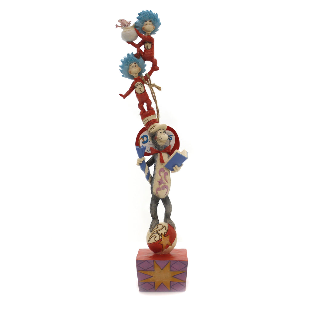 Jim Shore CAT IN THE HAT STACKED Polyresin Dr Seuss 6002907