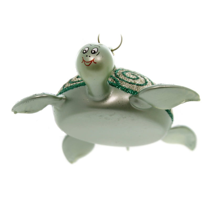 De Carlini SEA TURTLE Glass Ornament Sea Ocean Italian A5208