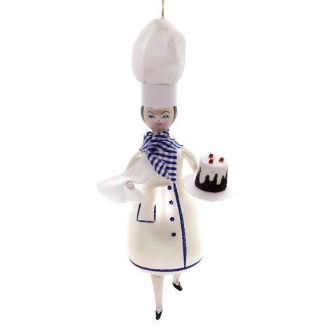 De Carlini PASTRY CHEF Glass Ornament Baker Cake Italian Do7227m 39705