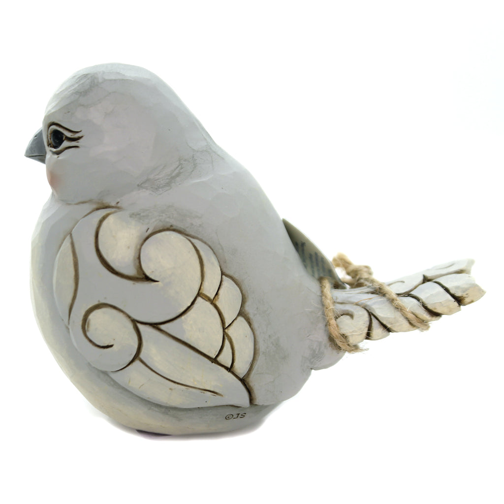 Jim Shore CHARMING CHIRPER Polyresin Grey Bird 6003630